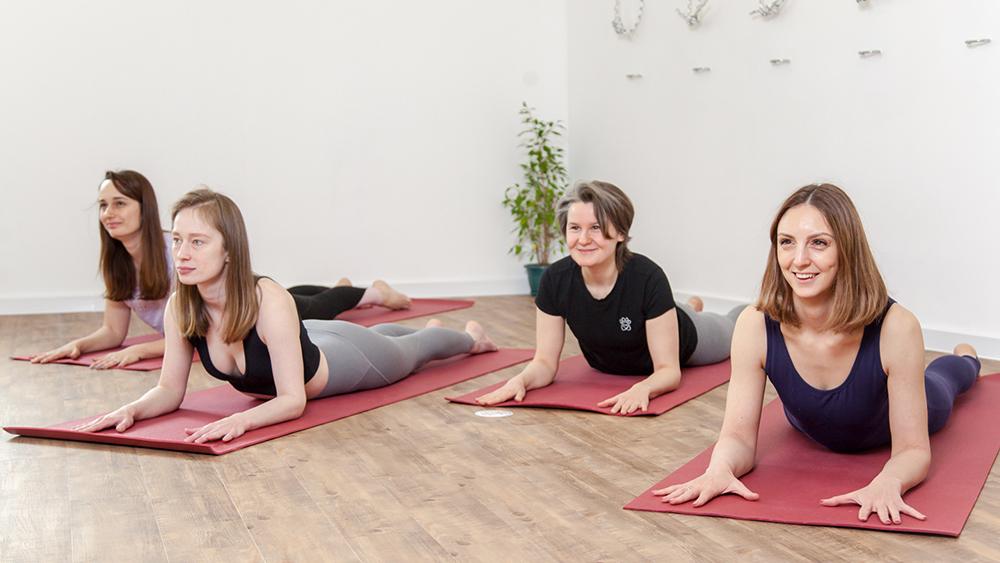 Интерьер студии йоги в Котельниках
